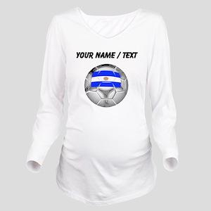 Custom Argentina Soccer Ball Long Sleeve Maternity