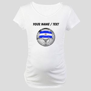 Custom Argentina Soccer Ball Maternity T-Shirt