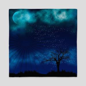 Blue Moon Night Queen Duvet