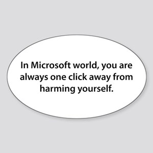 One Click Away Oval Sticker