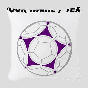 Custom Soccer Ball Woven Throw Pillow
