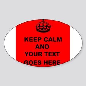 Keep calm and Your Text Sticker