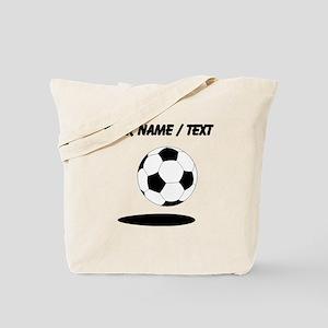 Custom Soccer Ball With Shadow Tote Bag