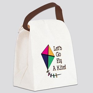 Fly a Kite Canvas Lunch Bag