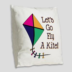 Fly a Kite Burlap Throw Pillow