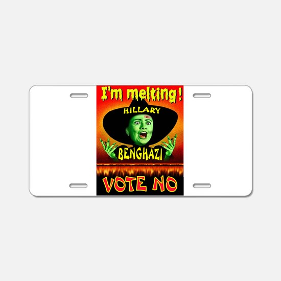 HILLARY WITCH Aluminum License Plate