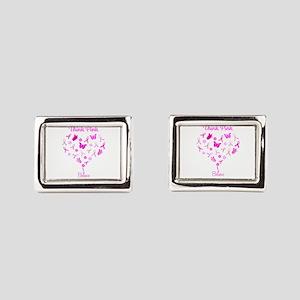 Think Pink, Believe Rectangular Cufflinks