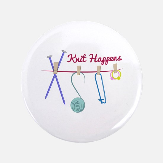 "Knit Happens 3.5"" Button"