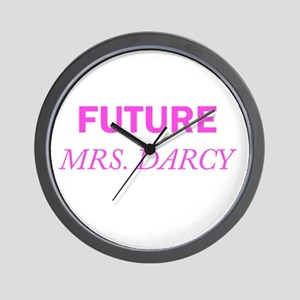 Future Mrs. Darcy Wall Clock