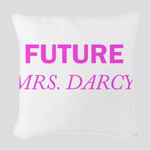 Future Mrs. Darcy Woven Throw Pillow