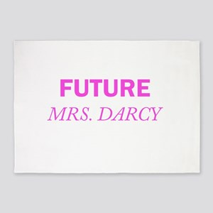 Future Mrs. Darcy 5'x7'Area Rug