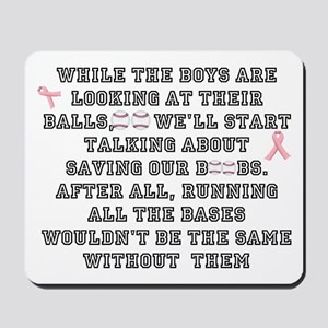 Boobs and Baseball Mousepad
