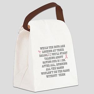 Boobs and Baseball Canvas Lunch Bag
