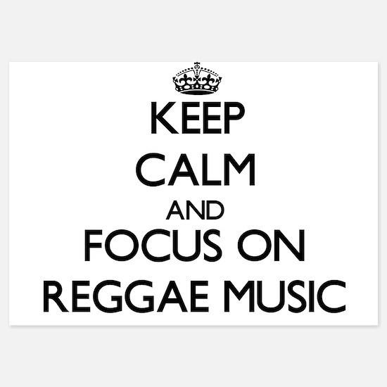 Keep Calm by focusing on Reggae Music Invitations