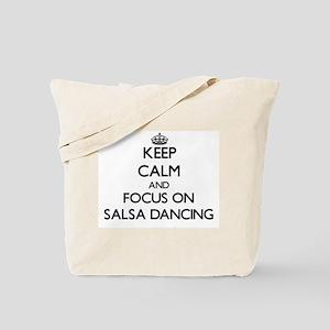 Keep Calm by focusing on Salsa Dancing Tote Bag