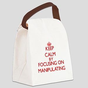 Keep Calm by focusing on Manipula Canvas Lunch Bag