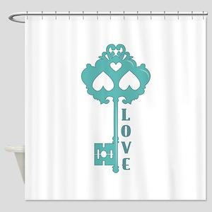 Love Key Shower Curtain