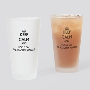 Keep Calm by focusing on The Academ Drinking Glass