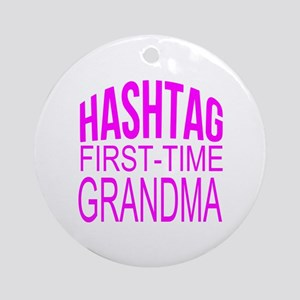 First Time Grandma Ornament (Round)
