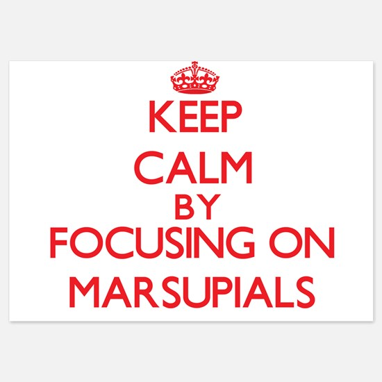 Keep Calm by focusing on Marsupials Invitations