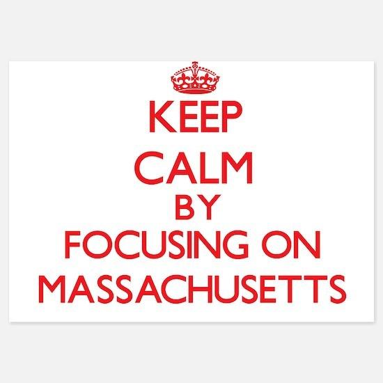 Keep Calm by focusing on Massachusetts Invitations