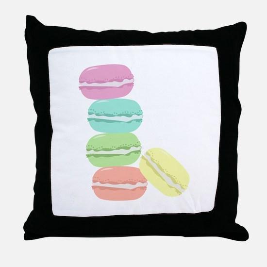 French Macaron Throw Pillow