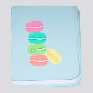 French Macaron baby blanket