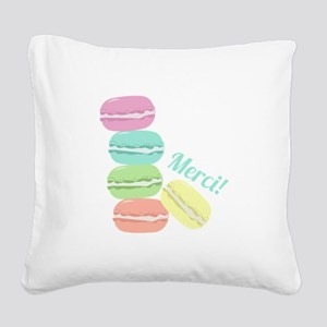 Merci! Cookies Square Canvas Pillow