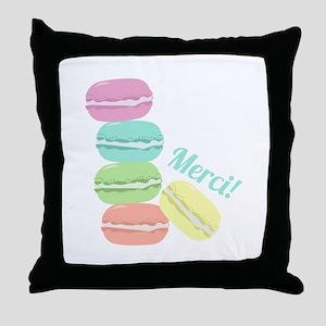 Merci! Cookies Throw Pillow