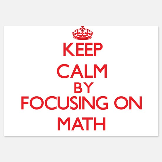 Keep Calm by focusing on Math Invitations
