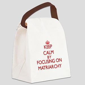 Keep Calm by focusing on Matriarc Canvas Lunch Bag
