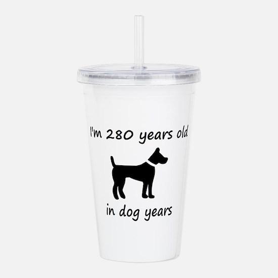 40 dog years black dog 1C Acrylic Double-wall Tumb