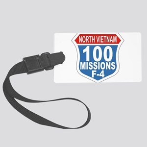 100 Missions F-4 Large Luggage Tag