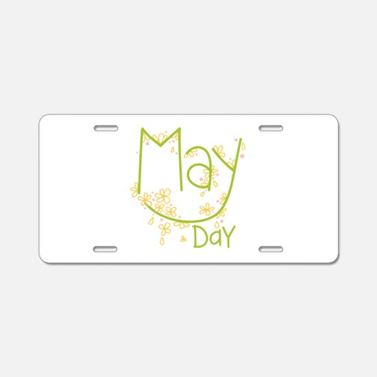 May Day Aluminum License Plate