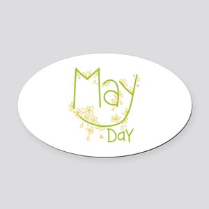 May Day Oval Car Magnet