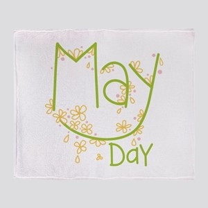 May Day Throw Blanket