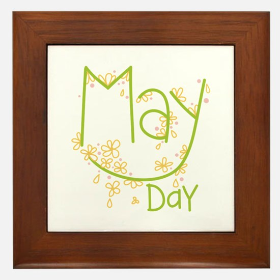 May Day Framed Tile