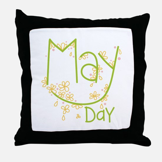 May Day Throw Pillow