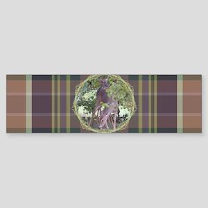 Forest Retreat Plaid Bumper Sticker