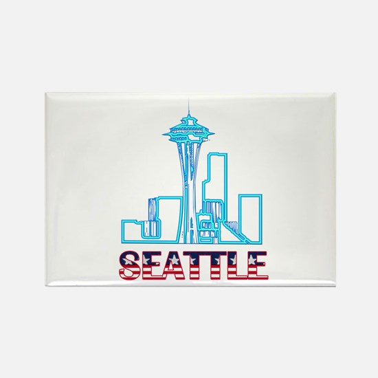 Seattle Space Needle Rectangle Magnet