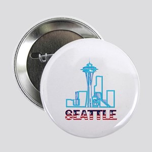 "Seattle Space Needle 2.25"" Button (10 pack)"