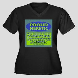 Proud Heretic Women's Plus Size V-Neck Dark T-Shir