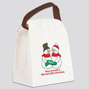 2017 Newlyweds Canvas Lunch Bag