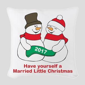 2017 Newlyweds Woven Throw Pillow