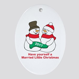 2017 Newlyweds Oval Ornament