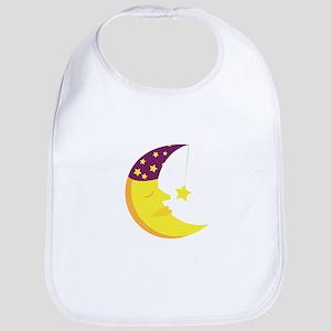 Sleepy Moon Bib