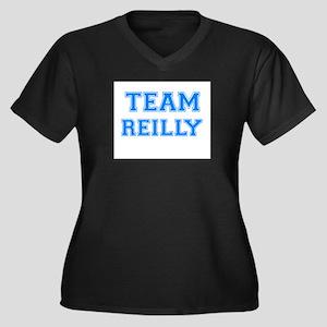 TEAM REILLY Women's Plus Size V-Neck Dark T-Shirt
