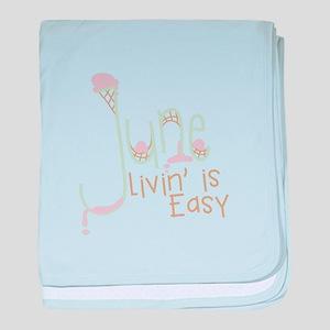 Livin' Is Easy baby blanket