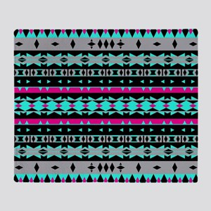 Mix #582, Tribal Pattern Throw Blanket