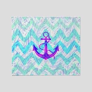 Purple Anchor, Throw Blanket